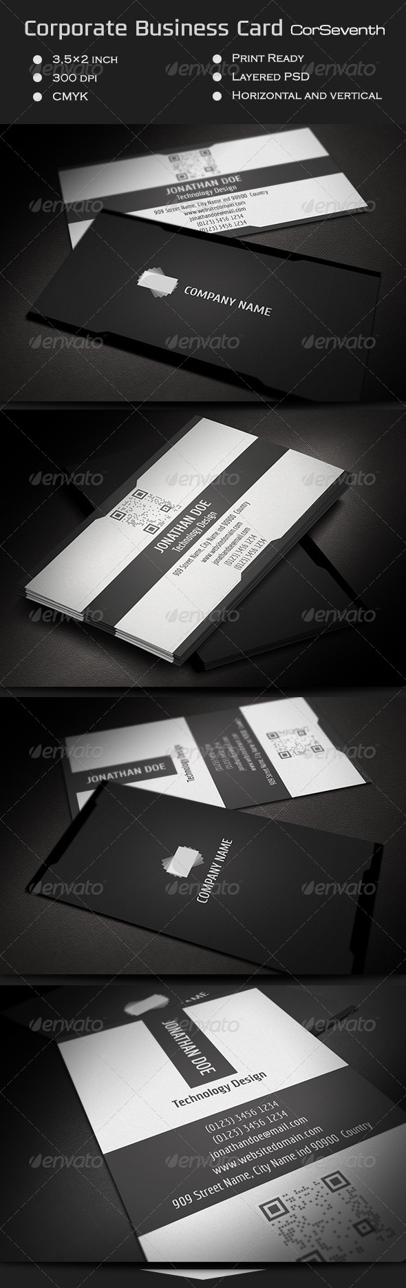 GraphicRiver Corporate Business Card CorSeventh 7195811
