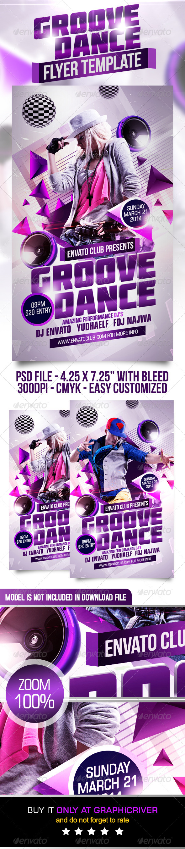 GraphicRiver Groove Dance Flyer Template 7127328