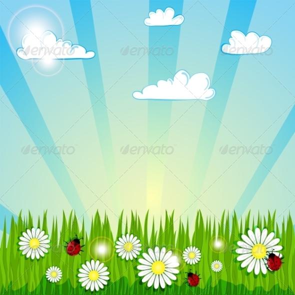GraphicRiver Summer Background 7196871