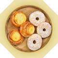 Wooden dish of cheese pies and donuts. - PhotoDune Item for Sale