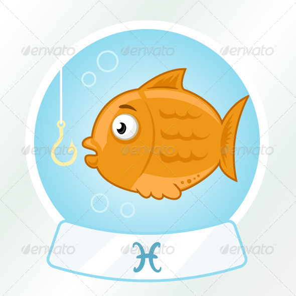 GraphicRiver Pisces Horoscope Sign 7197955