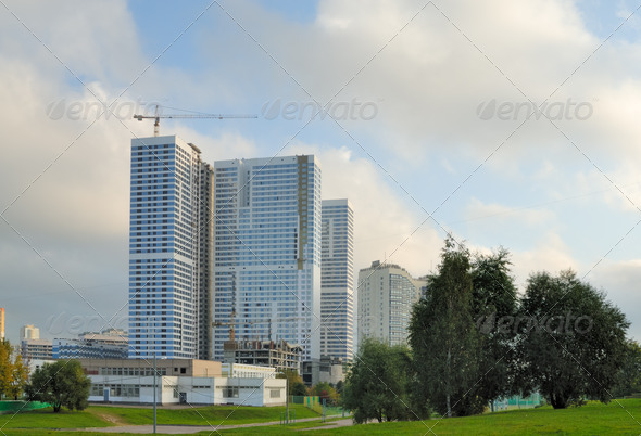 Building of an inhabited complex - Stock Photo - Images