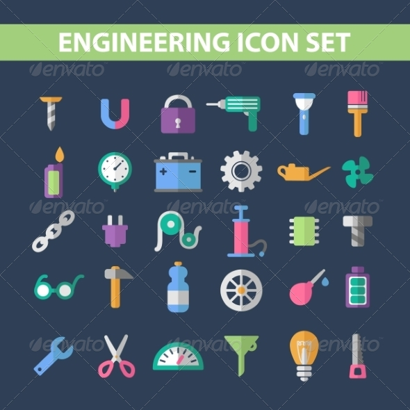 GraphicRiver Flat Icons 7198380
