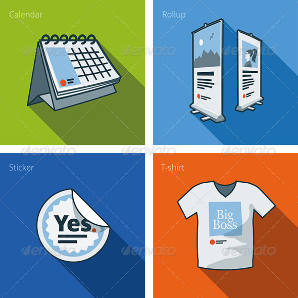 GraphicRiver Printouts Icon Set of Items 7199216