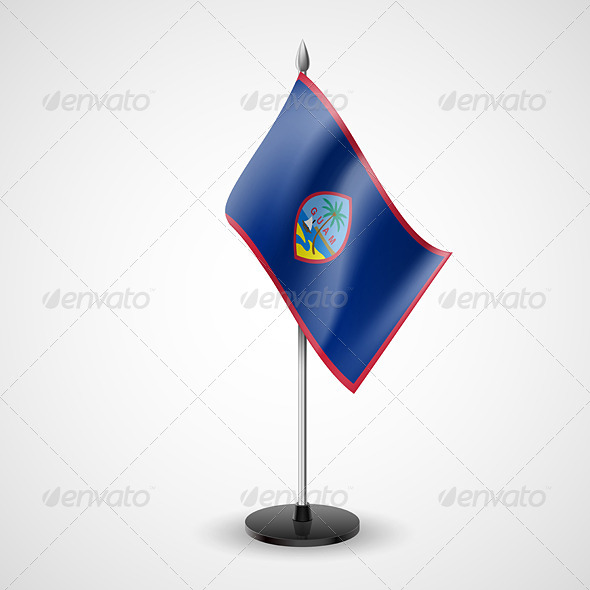 GraphicRiver Table Flag of Guam 7199578