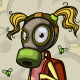 Child in a Gas Mask Standing on a Pile of Garbage - GraphicRiver Item for Sale