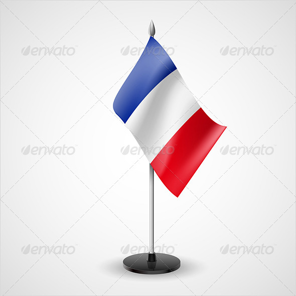 GraphicRiver Table Flag of France 7200344