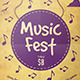 Music Fest Flyer Template - GraphicRiver Item for Sale