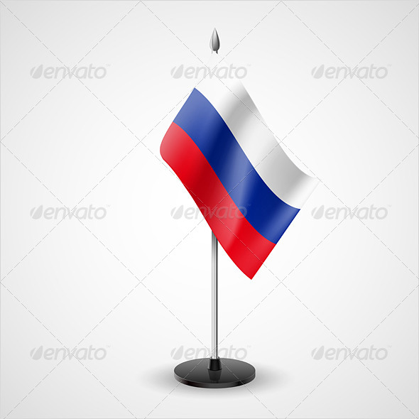 GraphicRiver Table Flag of Russian Federation 7200716