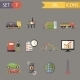 Retro Flat Oil Icons and Symbols Set - GraphicRiver Item for Sale