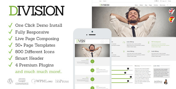 ThemeForest Division Responsive Multi-Purpose Theme 6830325