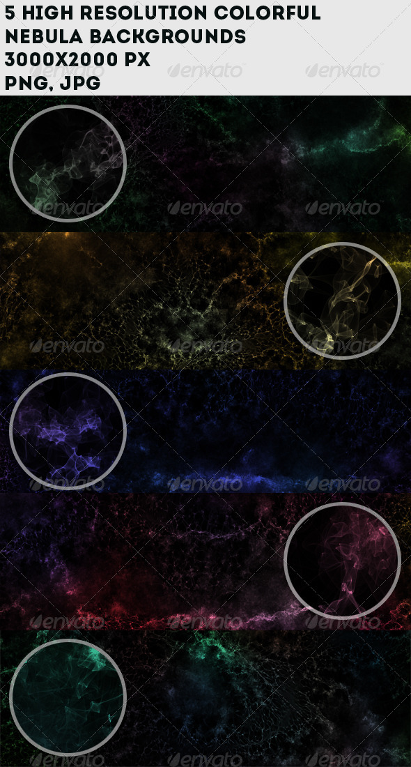 GraphicRiver Hi-Res Colorful Nebula Backgrounds 7203944