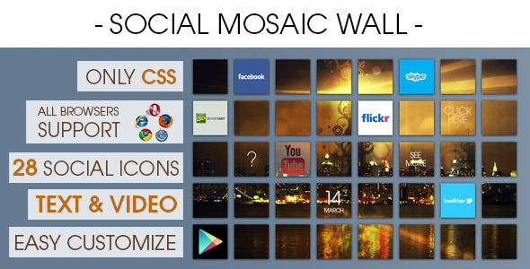 CodeCanyon Social Mosaic Wall 7206061