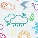 Seamless Pattern of Weather Symbols - GraphicRiver Item for Sale