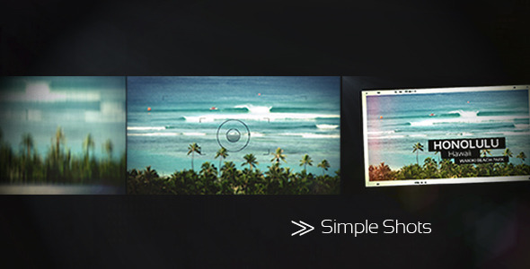 After Effects Project - VideoHive Simple Shots 755665