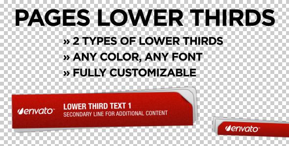 After Effects Project - VideoHive Pages Lower Thirds 755794