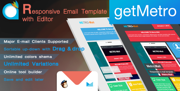ThemeForest getMetro Responsive Email Template with Editor 7132517