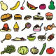 Food Doodles - GraphicRiver Item for Sale