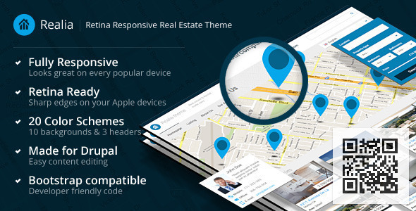 Realia - Responsive Real Estate Drupal Theme - Business Corporate