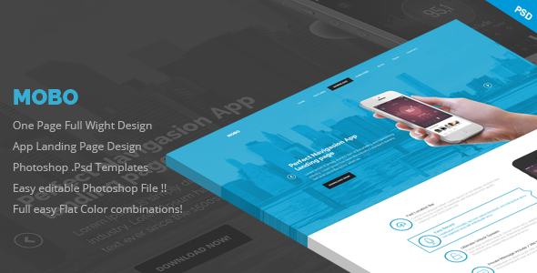 ThemeForest Mobo One Page App Landing Page 7181811