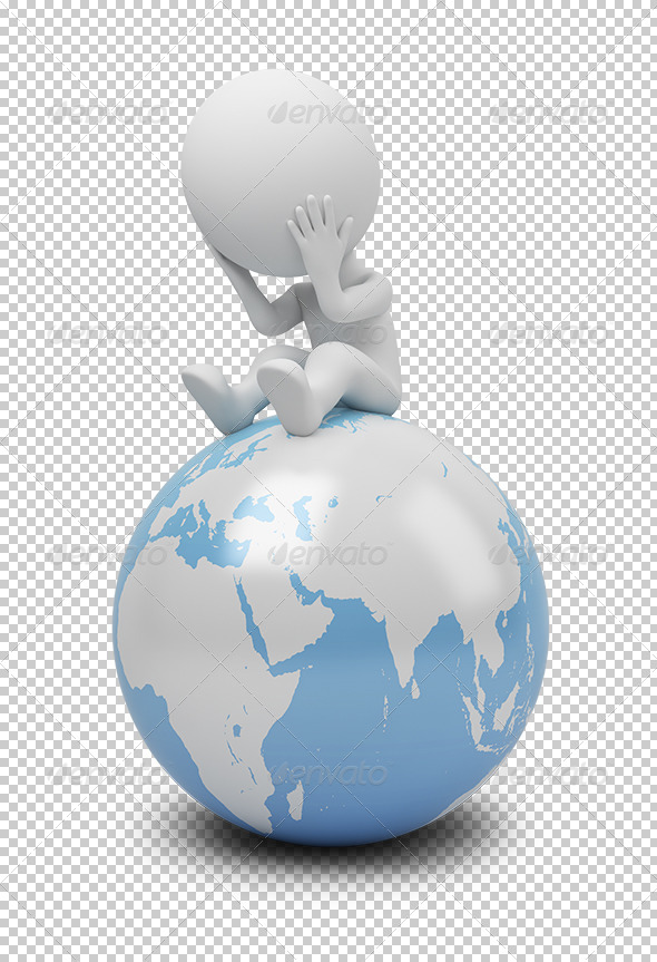GraphicRiver 3D Small People Global Question 5447988