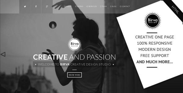 Birva Design Creative One Page Theme By Abmathasuriya