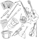 Vector Set of Musical Instruments - GraphicRiver Item for Sale