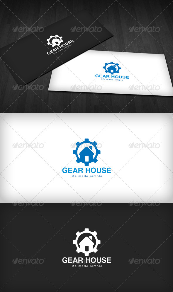 Gear House Logo - Symbols Logo Templates