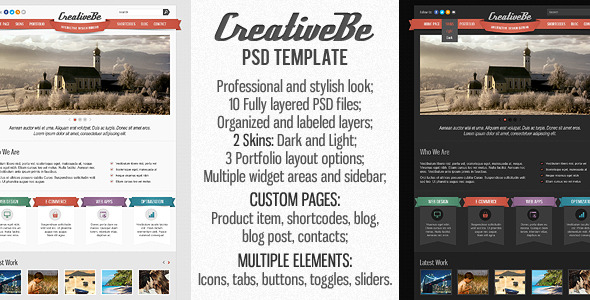 CreativeBe PSD Template