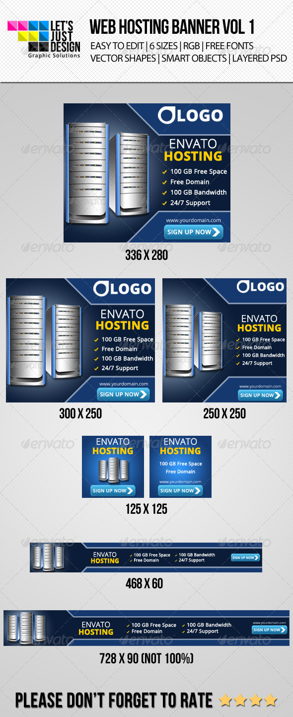 GraphicRiver Web Hosting Company Ad Web Banner 7218606