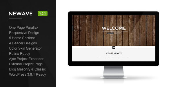 Newave - Wordpress Responsive One Page Parallax - Creative WordPress