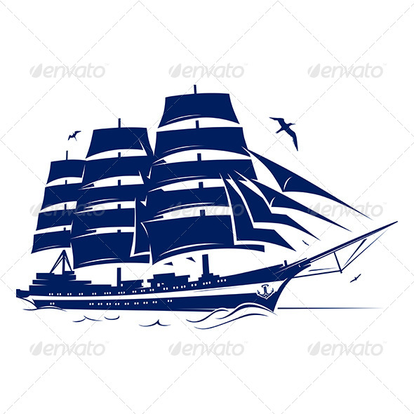 GraphicRiver Yacht Ship Emblem 7200856