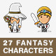 27 Modern Fantasy Characters - GraphicRiver Item for Sale