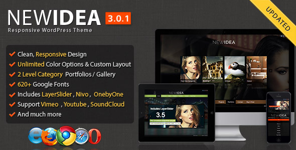 New Idea Responsive Layout Wordpress Theme - Portfolio Creative