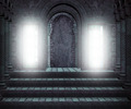 Gothic Hall Premade Medieval Backdrop - PhotoDune Item for Sale