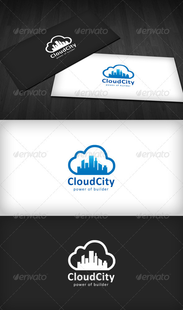 GraphicRiver Cloud City Logo 758154