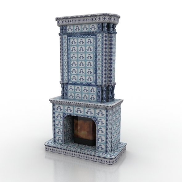 3DOcean Fireplace Gzhel 758344