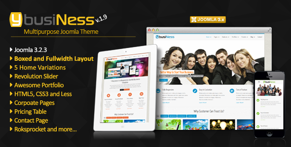 YbusiNess - Responsive Joomla Business Template - Corporate Joomla