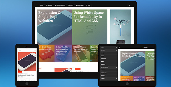 DW ARGO - Responsive WordPress Theme for Magazine - Blog / Magazine WordPress