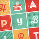 Retro Letters Birthday Card - GraphicRiver Item for Sale
