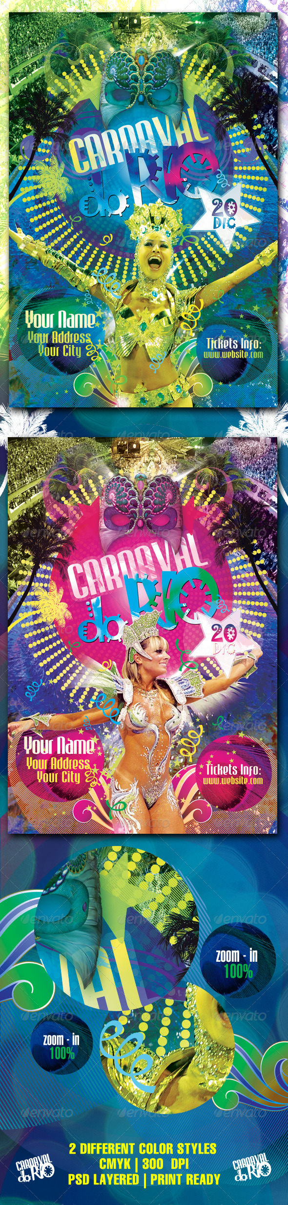 Carnaval Do Rio Flyer Template - Clubs & Parties Events