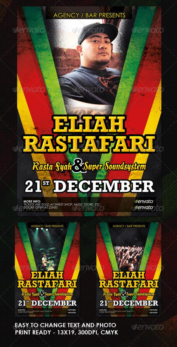 GraphicRiver Reggae Jamaican Flyer 755341