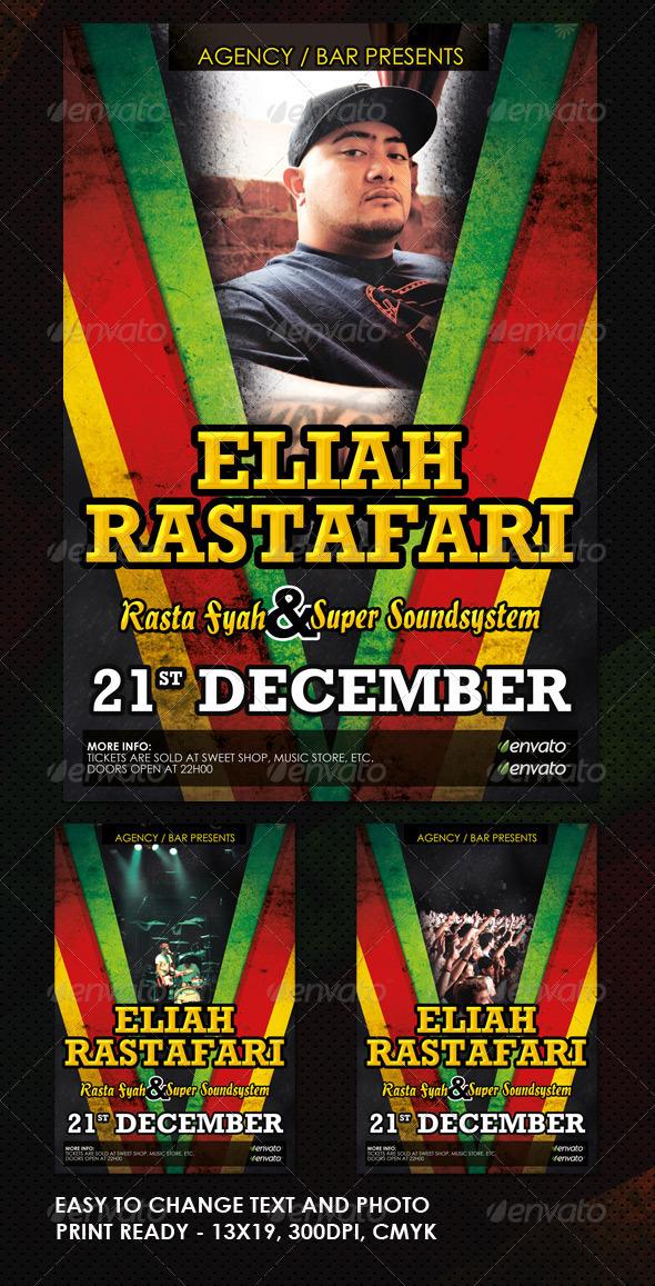 GraphicRiver Reggae Jamaican Flyer 755341