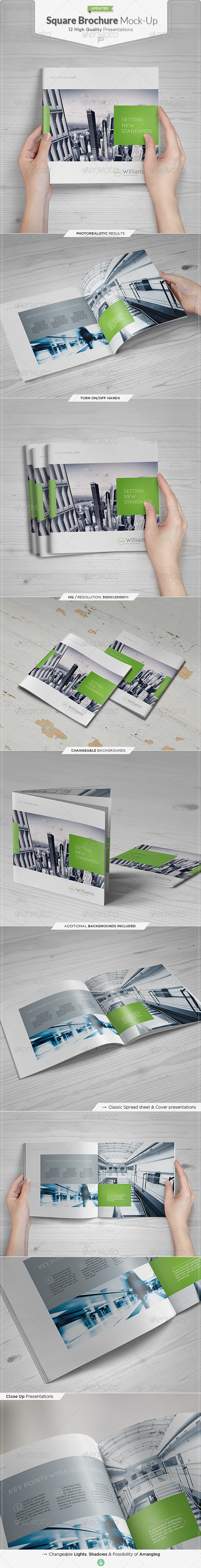 Square Brochure / Catalog Mock-Up Set - Brochures Print