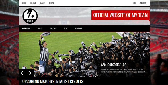 Sporty is a unique responsive html template which is build for sport clubs. It can be used by any sport club like soccer, football, basketball, baseball, rugby,