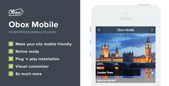 Obox Mobile - WordPress Mobile Plugin - CodeCanyon Item for Sale