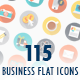 115 Business Flat Icons - GraphicRiver Item for Sale