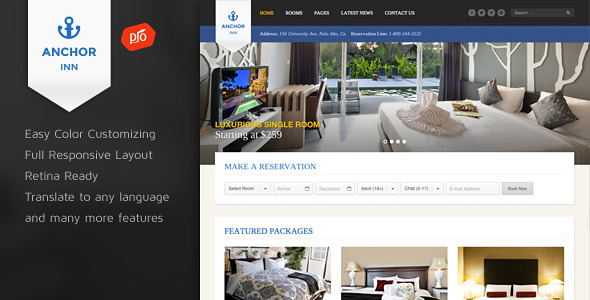 Anchor Inn - Hotel and Resort Theme - Travel Retail