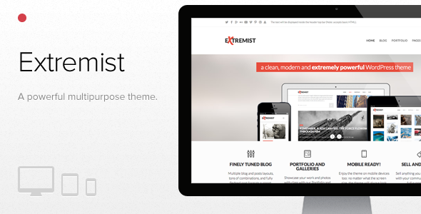 Extremist: powerful responsive multipurpose theme - Creative WordPress