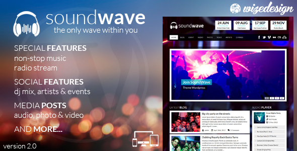 SoundWave - The Music Vibe WordPress Theme - Music and Bands Entertainment